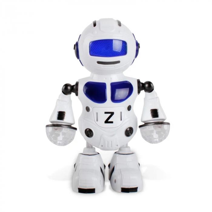 Robot dansator cu sunete si lumini, Albastru, Toyska [2]