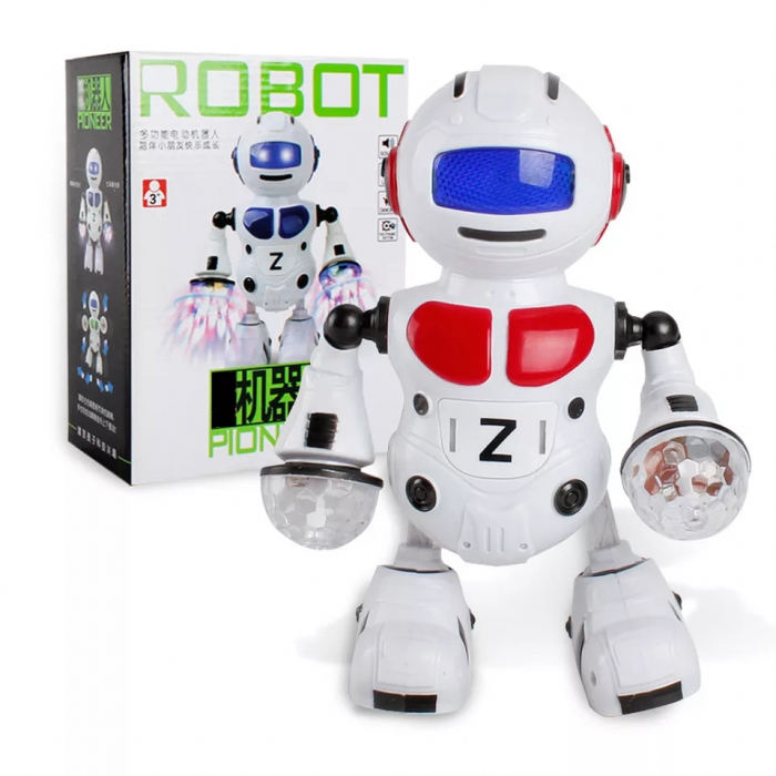 Robot dansator cu sunete si lumini, Rosu, Toyska [1]