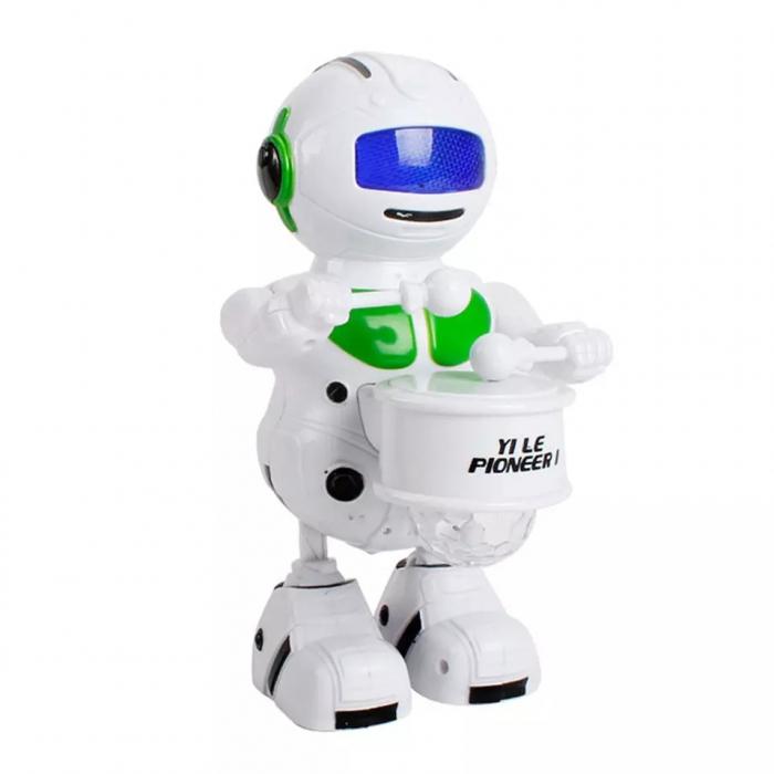 Robot dansator cu sunete si lumini, Verde, Toyska [2]