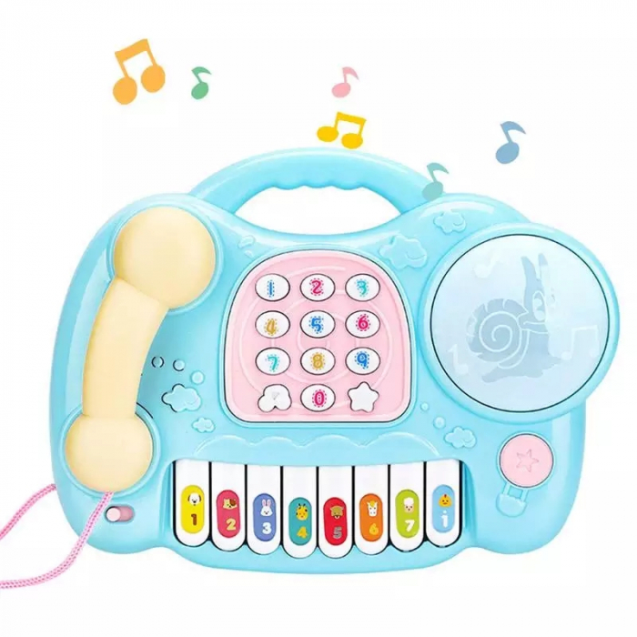 Jucarie muzicala Telefon si Orga, Albastru, Toyska [0]