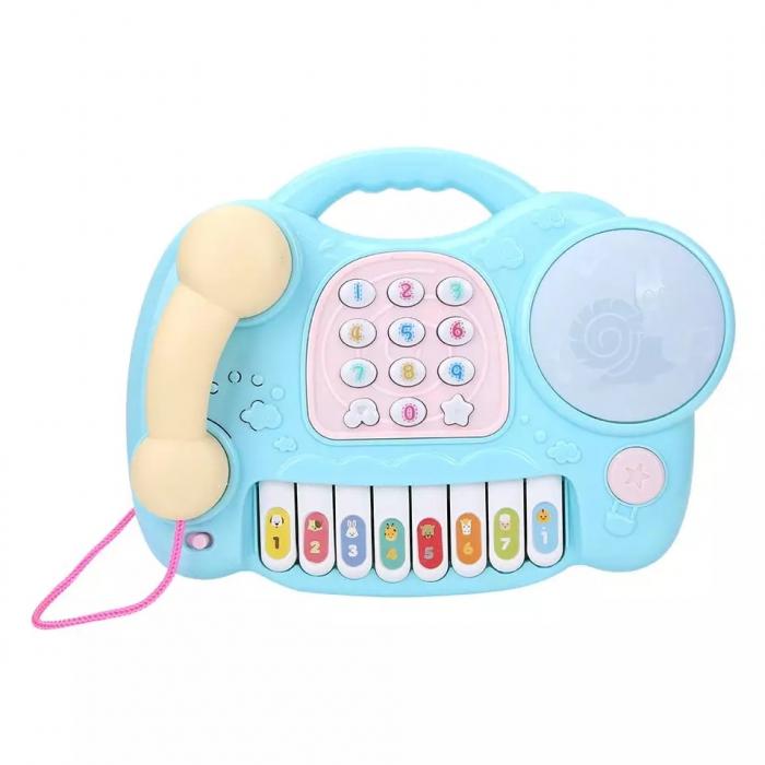 Jucarie muzicala Telefon si Orga, Albastru, Toyska [2]