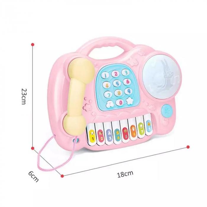 Jucarie muzicala Telefon si Orga, Roz, Toyska [3]