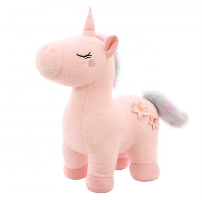 Jucarie de plus Unicorn, 60 cm, Roz, Toyska [0]