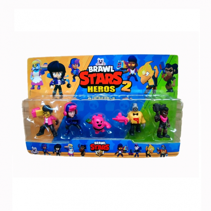Figurine Brawl Stars Heros 2, set 5 eroi , Toyska [0]