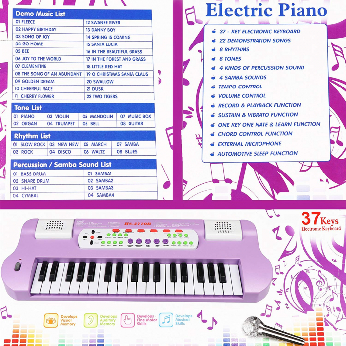 Orga Electronica cu microfon, Functii multiple, 50 cm, Toyska [1]