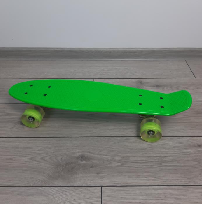 Penny Board cu roti luminoase LED, 55 cm, Verde [2]