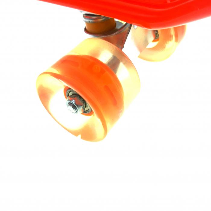 Penny Board cu roti luminoase LED, 55 cm, Portocaliu, Toyska [2]