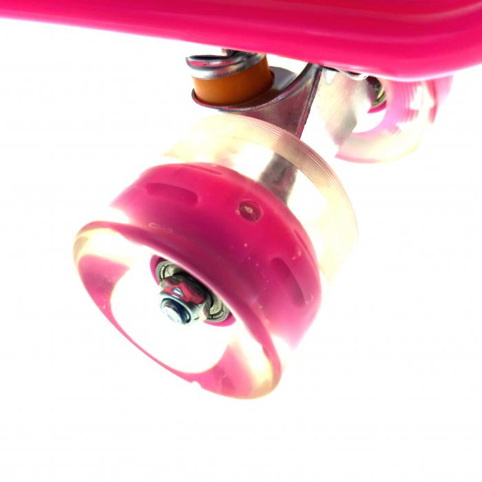 Penny Board cu roti luminoase LED, 55 cm, Roz, Toyska [2]