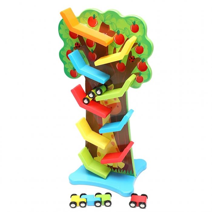Jucarie lemn, Circuit Pista cu masinute,Copacul  Toyska [2]