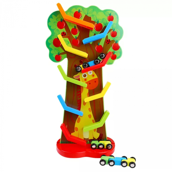 Jucarie lemn, Circuit Pista cu masinute,Copacul  Toyska [0]
