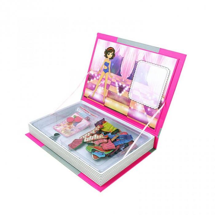 Joc educativ Carte magnetica cu piese puzzle, Princess Dress Up, Toyska [1]