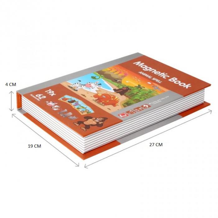 Joc educativ Carte magnetica cu piese puzzle, Animal Spell, Toyska [1]