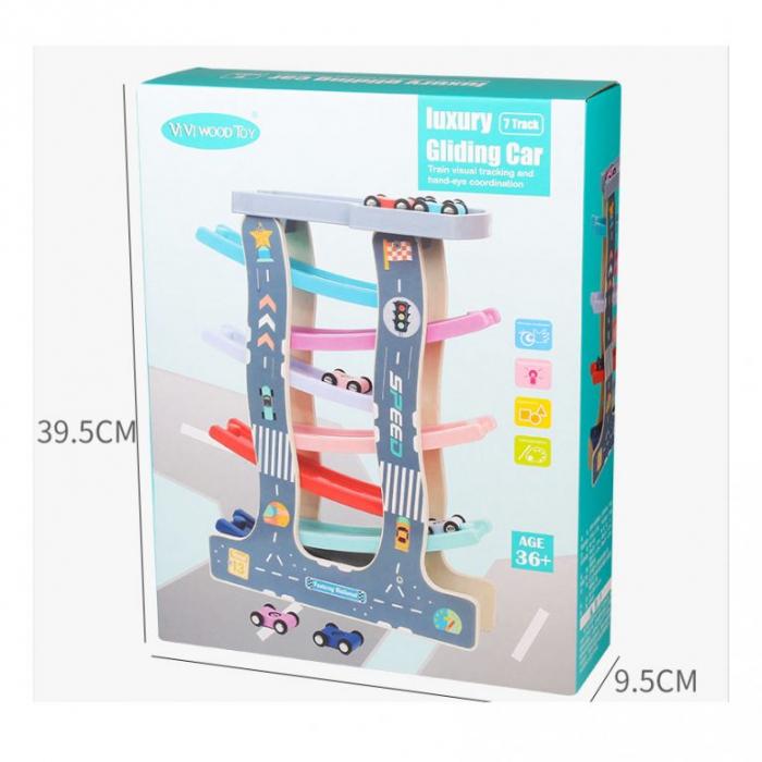 Circuit cu masinute din lemn 7 Piste Raliu, Toyska [1]