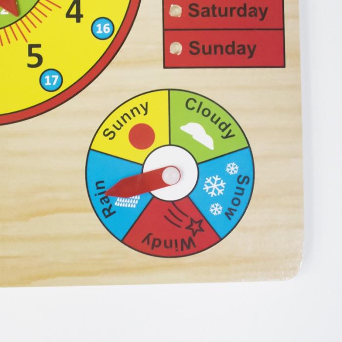 Calendar si Ceas in limba Engleza, lemn, Montessori, Toyska [1]