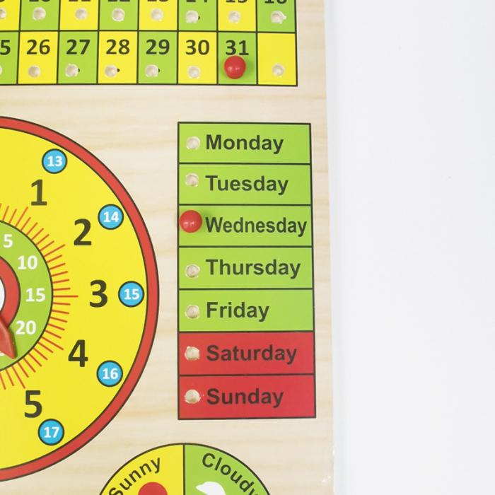 Calendar si Ceas in limba Engleza, lemn, Montessori, Toyska [3]
