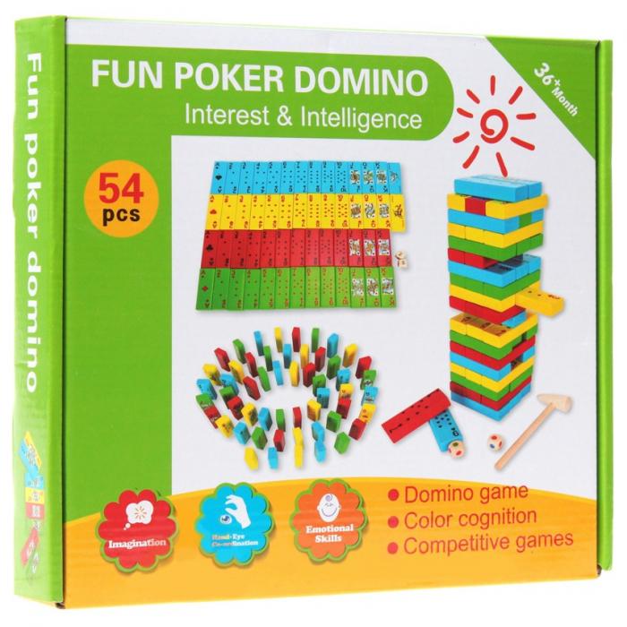 Joc de Inteligenta Domino, 54 piese, Toyska [3]