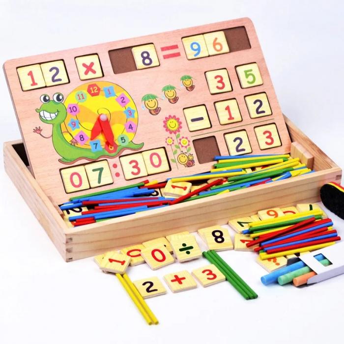 Joc multifunctional Montessori Matematica, Toyska [2]