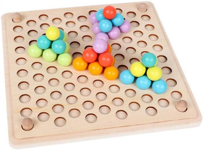 Joc Montessori de indemanare si asociere culori, Toyska [2]