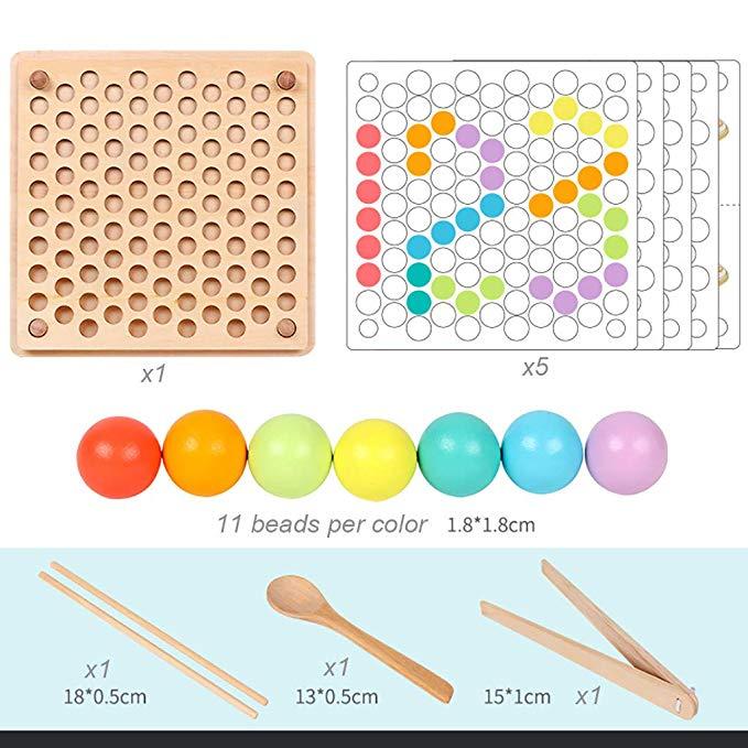 Joc Montessori de indemanare si asociere culori, Toyska [3]