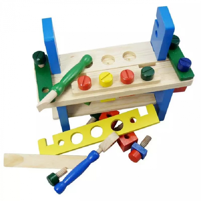 Jucarie Banc de Scule, 36 piese, lemn, Toyska [1]