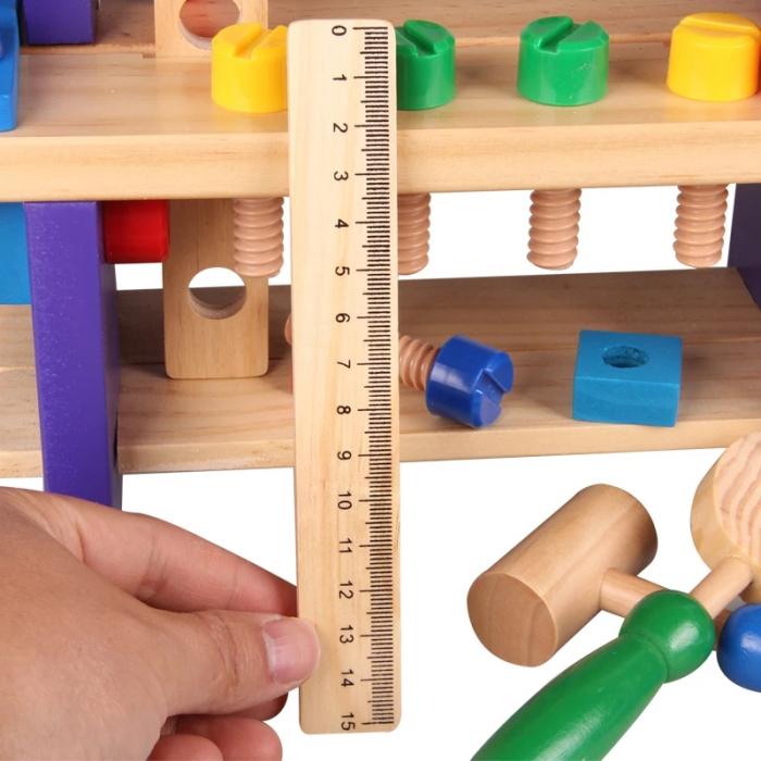 Jucarie Banc de Scule, 36 piese, lemn, Toyska [4]