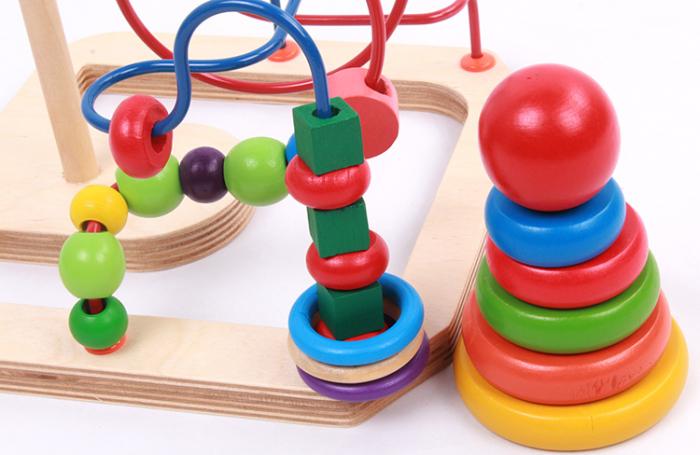 Jucarie motricitate 2 in 1 Labirint si Turn Rainbow, Toyska [1]