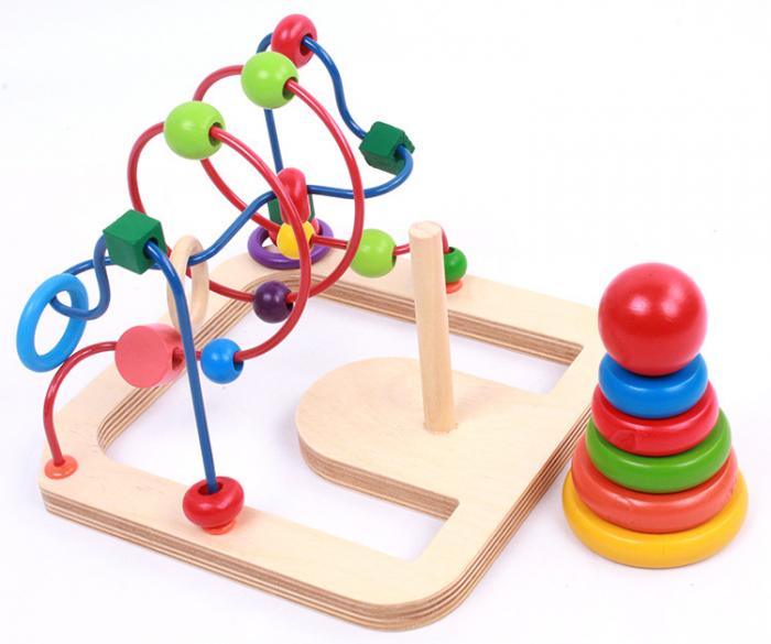 Jucarie motricitate 2 in 1 Labirint si Turn Rainbow, Toyska [2]
