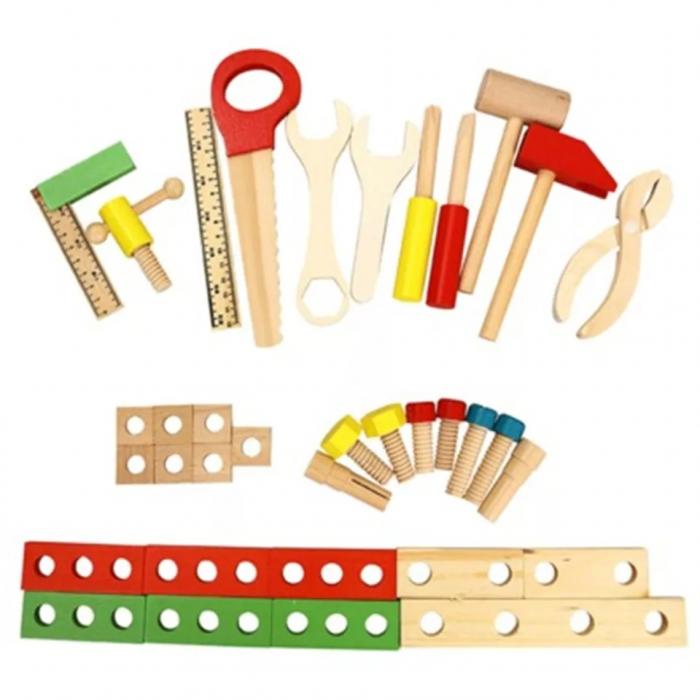 Trusa de scule din lemn Montessori, 25 piese, Toyska [3]