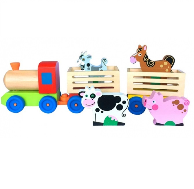 Trenulet din lemn, Ferma Animalelor, Toyska [0]