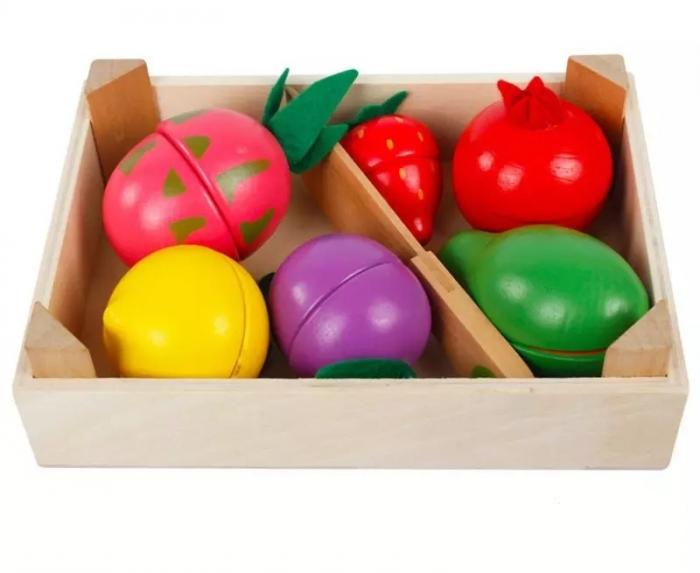 Set Fructe de feliat din lemn cu magnet, Toyska [0]