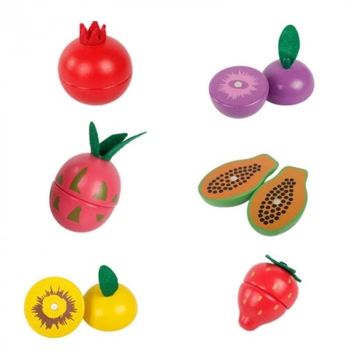 Set Fructe de feliat din lemn cu magnet, Toyska [1]