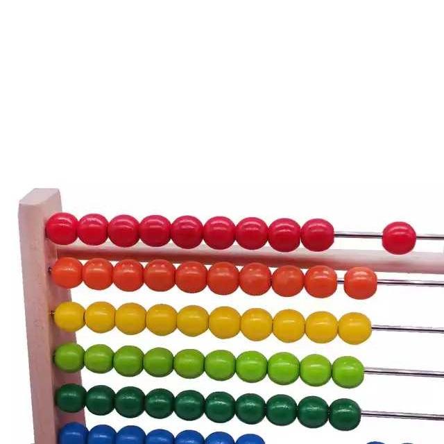 Numaratoare din lemn, Abac, bile colorate, Toyska [1]