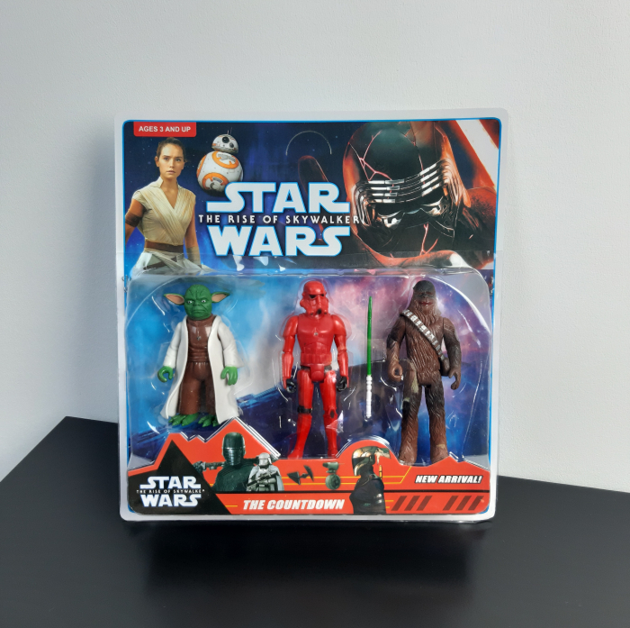 Set 3 figurine Star Wars, Yoda, Chewbacca, Sith Trooper, Toyska [1]