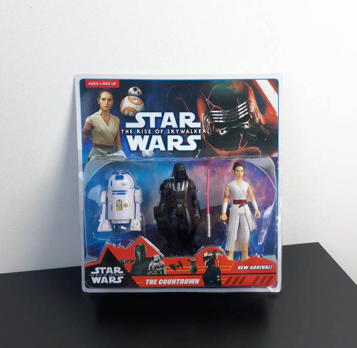 Set 3 figurine Star Wars, R2-D2, Darth Vader, Rey, Toyska [0]