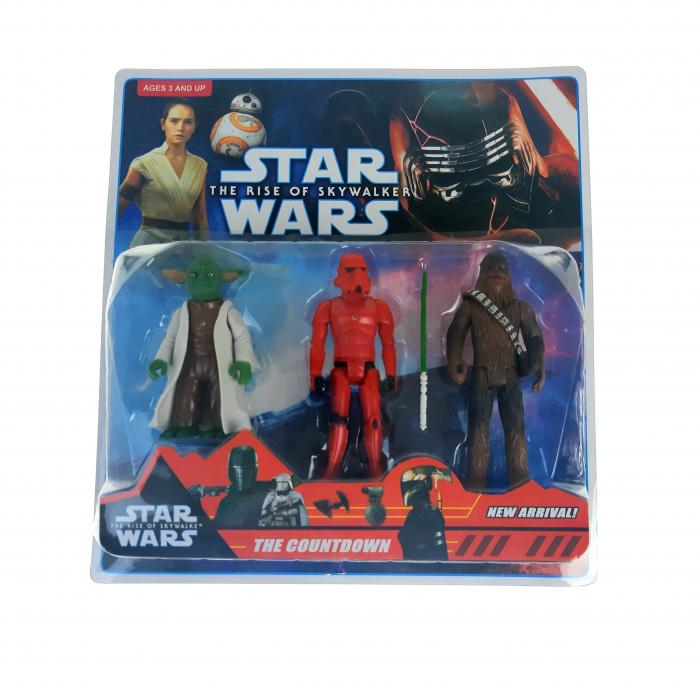 Set 3 figurine Star Wars, Yoda, Chewbacca, Sith Trooper, Toyska [0]