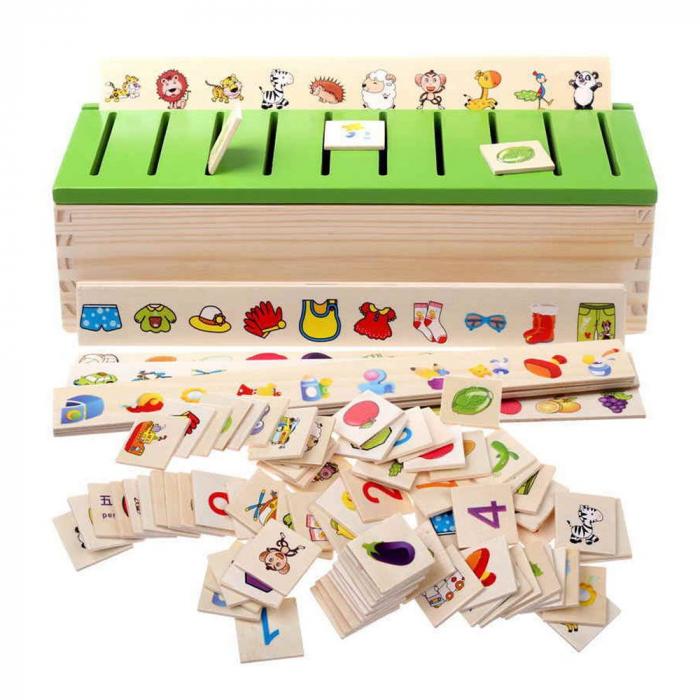 Cutie sortatoare Montessori cu 90 de piese, multicolor [0]