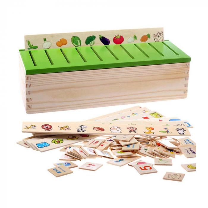Cutie sortatoare Montessori cu 90 de piese, multicolor [4]