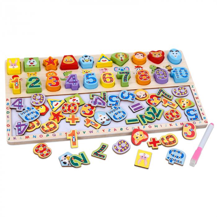 Tabla 3 in 1 Cifre si forme, 40x23, Toyska [1]