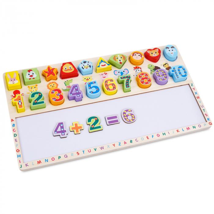 Tabla 3 in 1 Cifre si forme, 40x23, Toyska [2]