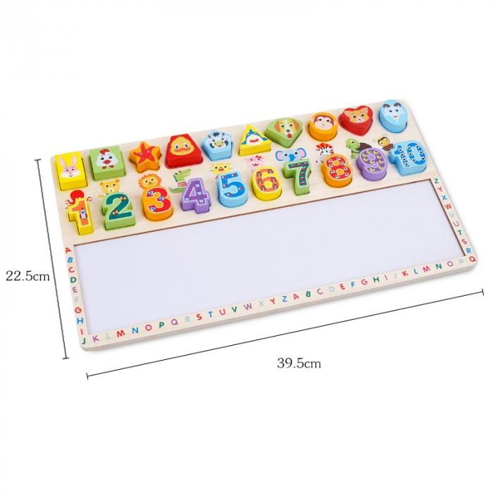 Tabla 3 in 1 Cifre si forme, 40x23, Toyska [3]
