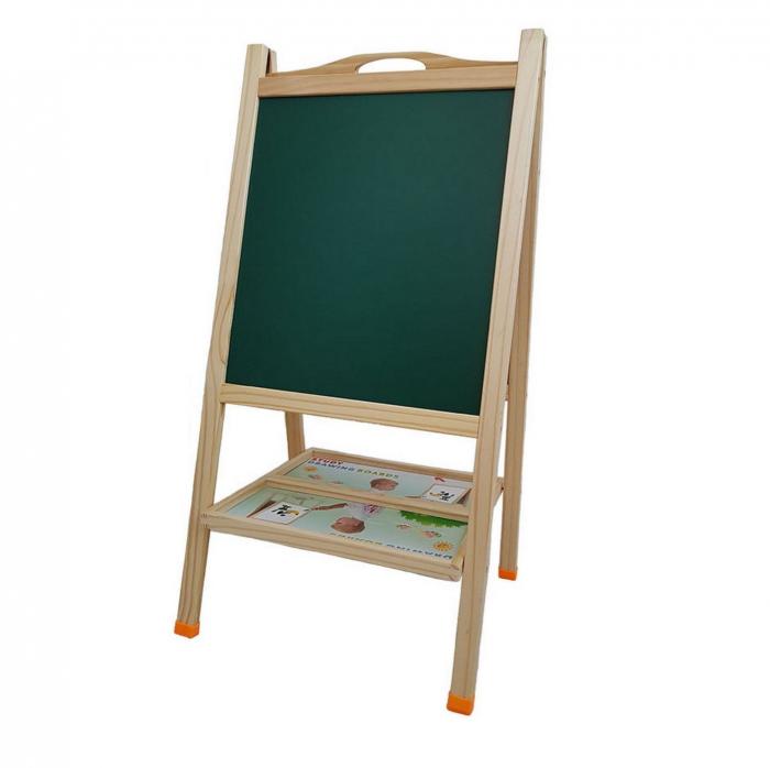 Tabla educativa din lemn 3 in 1 sevalet, 81x41, Toyska [2]