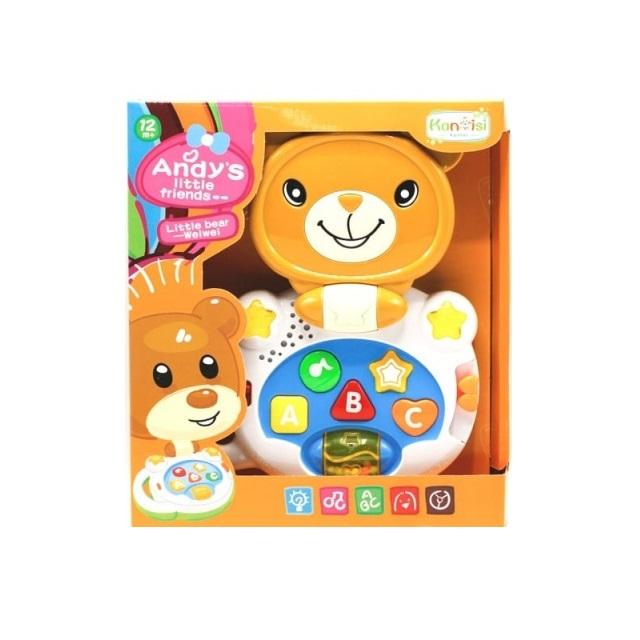 Laptop interactiv, Jucarie bebe Ursulet, Toyska [1]