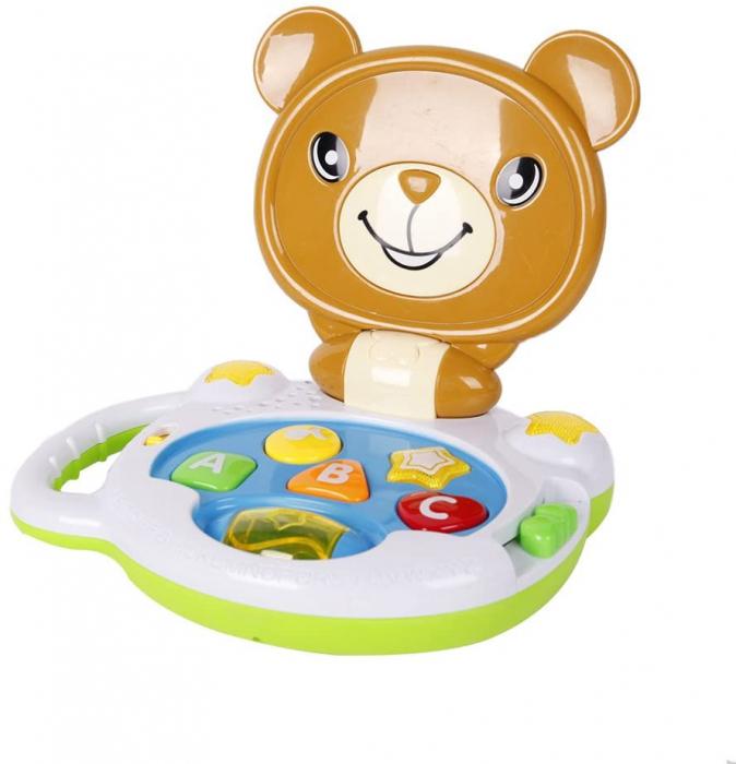 Laptop interactiv, Jucarie bebe Ursulet, Toyska [2]