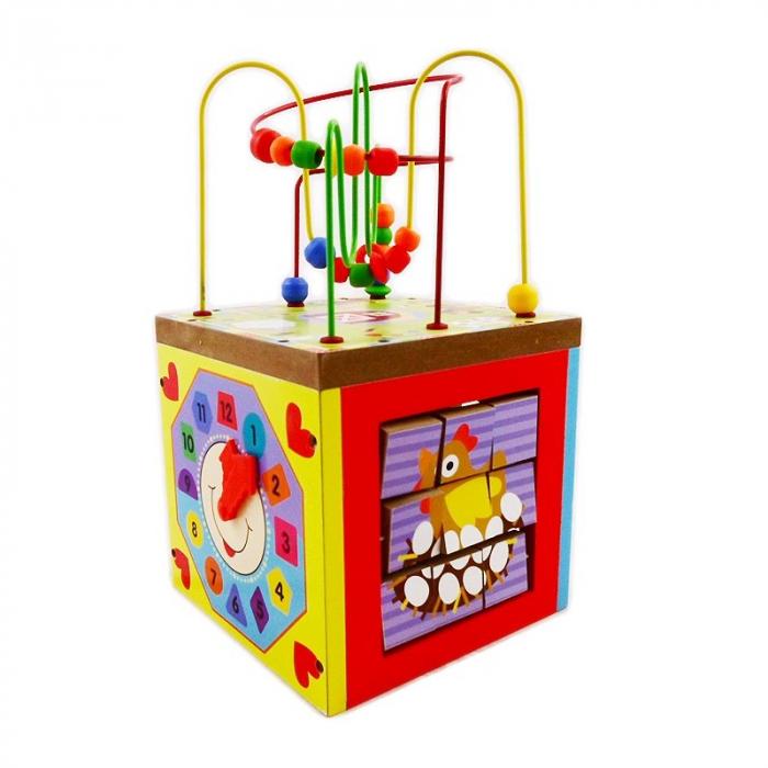 Cub educativ multifunctional 5 in 1 Ferma, Toyska [3]
