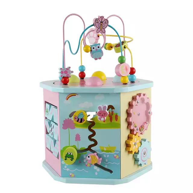 Cub educativ multifunctional 8 in 1 Hexagonal, Toyska [0]