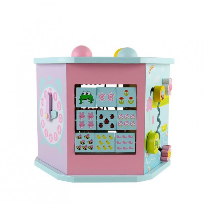 Cub educativ multifunctional 8 in 1 Hexagonal, Toyska [4]