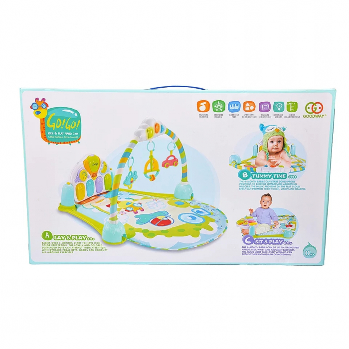 Saltea de joaca bebe cu pian Go!Go!, 92x80, Toyska [1]