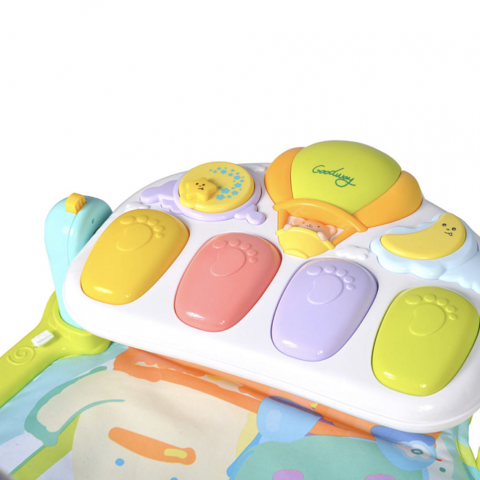Saltea de joaca bebe cu pian Go!Go!, 92x80, Toyska [4]