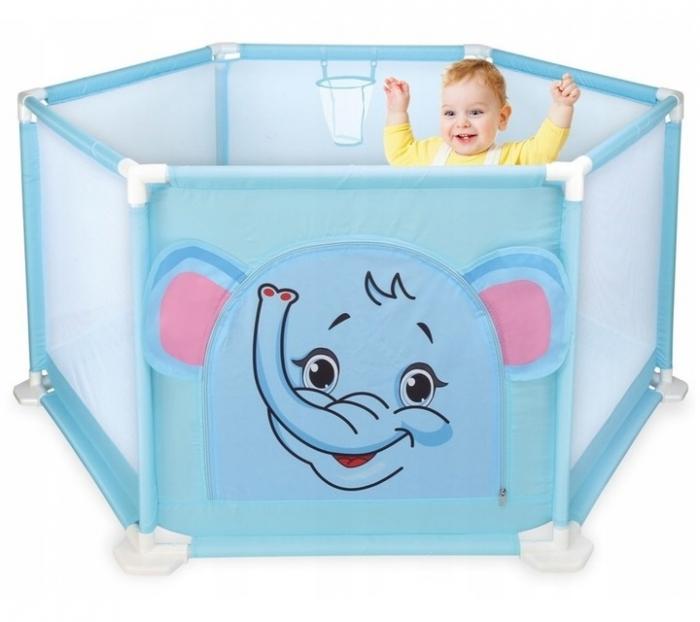Tarc de joaca pentru bebelusi ,146x66, 50 bile, Albastru, Toyska [0]