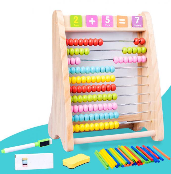 Numaratoare educativa 4 in 1 Cifre, Abac, Betisoare de numarat [2]